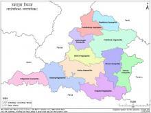 Map of Biruwa Municipality inside Syangja District